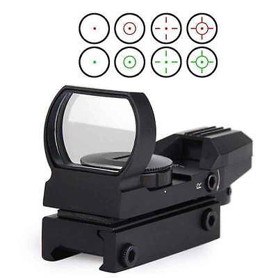 20mm Rail Red Dot Sight Reflex Green Holographic Scope Tactical Rifle Mount