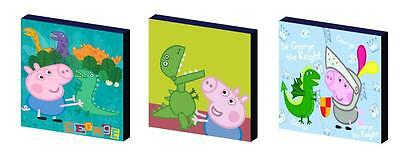 GEORGE PIG set b CANVAS WALL ART PLAQUES/PICTURES