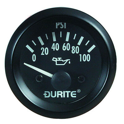 Durite 0-523-17  Oil Pressure Gauge with Sender 12 Volt - 52mm