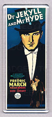 Dr. JEKYLL and Mr. HYDE (1931) movie poster 'WIDE' FRIDGE MAGNET  - HORROR!