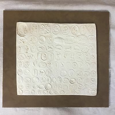 Collection of Erotic Roman Italian Signets Cast in Plaster, Mounted