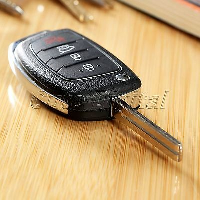 For HYUNDAI ix45 Santa Fe 2013-2014 Flip Key Shell Remote Key Case Fob 4 Buttons