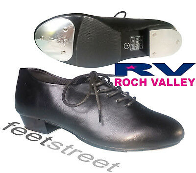 Rochvalley Oxford Jazz  Tap Shoe with Toe & Heel Taps Attached. Size 1  to 8