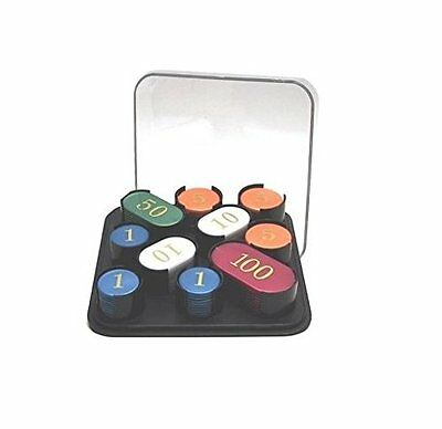 Boxed Set Of 100 X Numbered Poker Roulette Casino Chips / Tokens