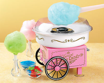 Cotton Candy Maker Machine Carnival Hard Sugar Free Party Kids Nostalgia Vintage