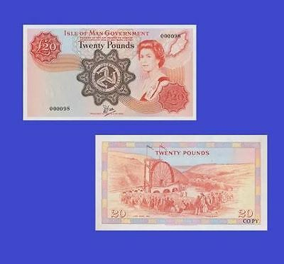 Isle of Man 20 Pounds ND . UNC - Reproductions