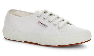 Superga  Womens 2750 Cotu Classic White Canvas Lace Up- New Stock Just Arrived