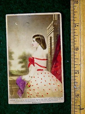 1863 Hand Colored Real Photo Victorian Card Evening John Soule, G. G. Fish F22