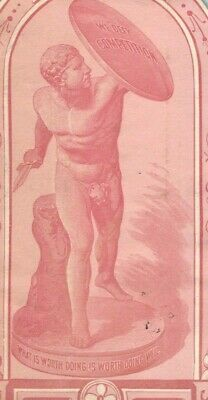1870s-80s The Best Greek Roman Statue Paper Victorian Bottle Label F20