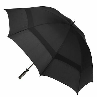 Hurricane Double Cover Golf Umbrella Black