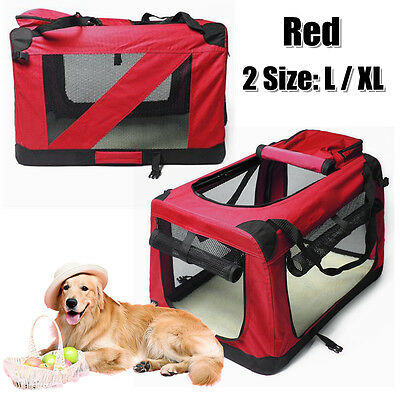 New Pet Dog Soft Crate Portable Carrier Travel Cage Tent Kennel Folding Large RD