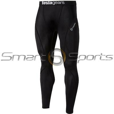 New Mens Tesla Black Baselayer Long Pants Armour Compression Tights Trousers
