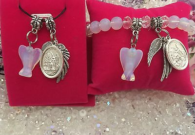 Code 214 Angel Communication Opalite Clear Quartz Angel Combination Christmas Gi