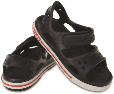Crocs Kids Crocband Sandal II in navy and white