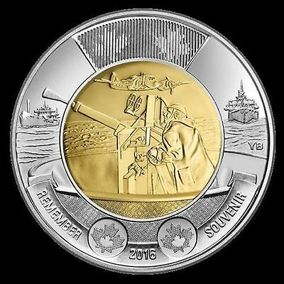 Toonie NEW The Atlantic 75th Anniversary $2 Dollar 2016 (EACH 1COIN) canadian 2$