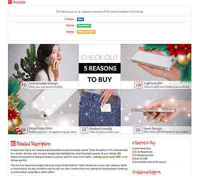"""Red Christmas"" Beautiful Responsive Listing Template for PC, Phone & Tablet"