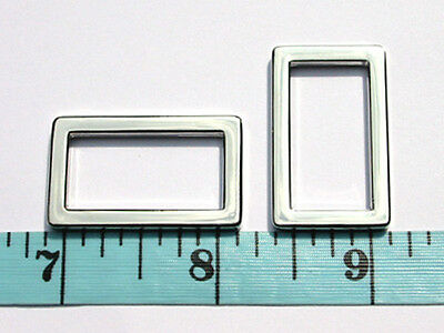 """AB16Q-NL 50pcs 1""""x1/2""""x3mm NICKEL Alloy flat rectangle rings, non-opening loops"""