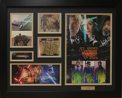 Star Wars VII 7 Limited Edition Signed Framed Memorabilia (b)