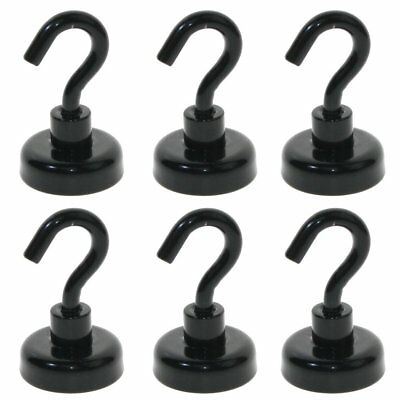 6PCS 50LBS Black Colour Magnetic hooks Heavy Duty Holder hold Christmas Lights