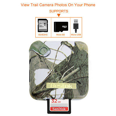 Bestok CV800 Trail/ Scouting/ Game Camera Viewer 8in1 Card for Smartphone iPhone