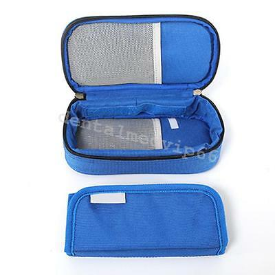 1PC Blue Diabetic Insulin Ice Pack Cooler Bags Protector Case Supply Injector JK