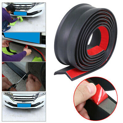 "Universal 100"" Car Lip Skirt Protector Front Bumper Spoiler Side Rubber Splitter"