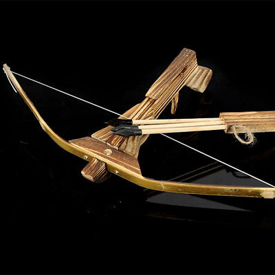 Arrow Quiver Kids Children Youth Cross Bow Toy Gun Wooden Archery Crossbow W/3