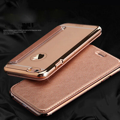 Luxury Flip Leather Wallet Clear TPU Back Case Cover For iPhone 5 6 6s 7 7 Plus