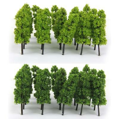Dark & Light Green Pagoda Tree Model Railway Scenery Decor Z Scale Set of 20