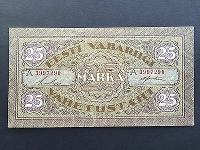 Estonia 25 Twenty Five Marka P54 Dated 1922 EF+