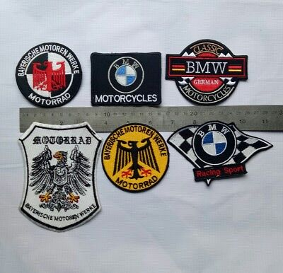 6X VINTAGE BMW Motorcycle Owners Of America Parts Patch R 50 51 25 27