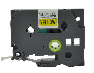 Black on Yellow TZe-641 TZ-641 P-Touch Label Maker Tape Compatible Brother 18mm