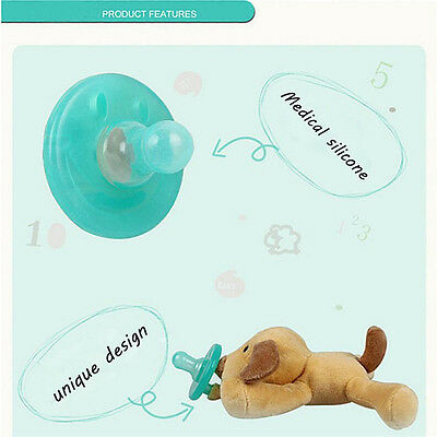 1Pc Animal Baby Nipple Cute Infant Wubbanub Silicone Pacifiers With Cuddly Plush