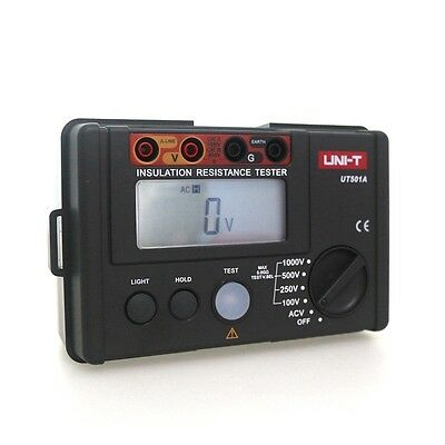 UNI-T UT501A Ground Earth Resistance Tester Digital Ohm Voltage LCD Meter 1000V