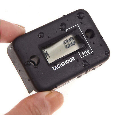 Waterproof IP68 Digital Tach Hour Meter Gauge LCD for 4Stroke Gas Engine Offroad