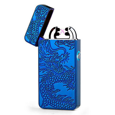 Electric Rechargeable Double Arc Lighter Pulse Plasma Cigarette Windproof Torch