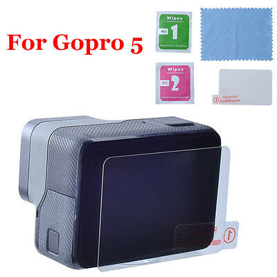 9H Hardness Tempered Glass LCD Screen Protector Guard Film for GoPro Hero 5