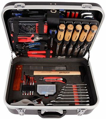 Carpenters Tool Set 92 Pieces DIY Case Kit Workbench Hardware Hammer Wood New UK