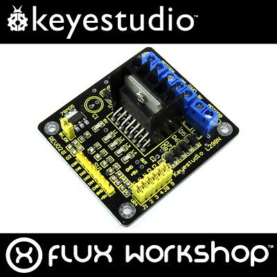 Keyestudio L298N Dual H-Bridge Motor Driver KS-063 Arduino Pi Flux Workshop