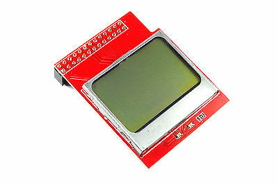 Raspberry Pi Nokia 5110 Blue Green Shield 84x48 PCD8544 Graphic Flux Workshop