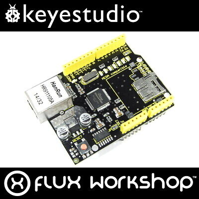 Keyestudio W5100 Ethernet Shield Module KS-156 Arduino UNO MEGA Flux Workshop