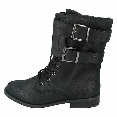 Sale Girls Spot On  Black Boots Style H5R025