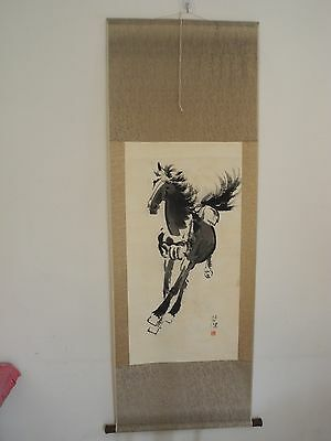 Excellent old Chinese Scroll Painting By Xu Beihong: horse V23