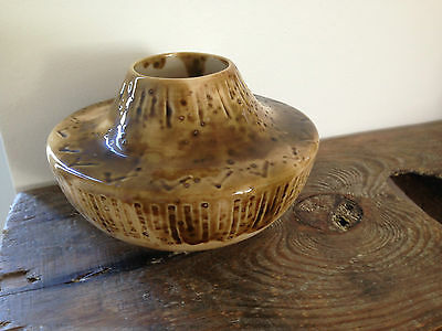 Mcm Vintage Timber Brook Timbersbrook Pottery Squat Vase West German Style Retro