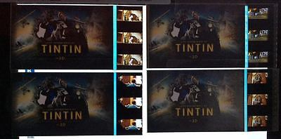 THE ADVENTURES OF TINTIN 4 MOVIE 35mm Film Cell Cards / K1