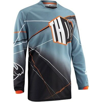 Thor Phase S5 Prism Motocross Offroad Mx Jersey Steel Size Large