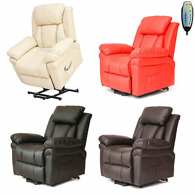 Faux Leather Massage Rise Recliner Mobility Tilt Lift Arm Chair Heat MLS-11