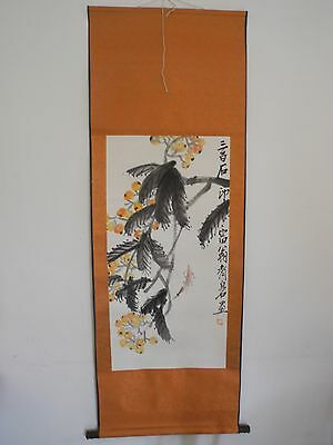Excellent old Chinese Scroll Painting By Qi Baishi: flower V49