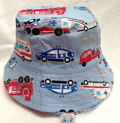 NEW 4 Little Ducks Infant Toddler Children's Emergency Baby Sun Hat Blue Boy