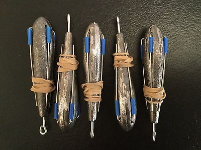 5 x  4.8oz breakaway style Sea fishing leads, weights